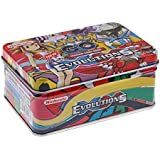 Assemble Pokemon EvolutionsTrading Card Game Cards in Metal Box Kids Gift