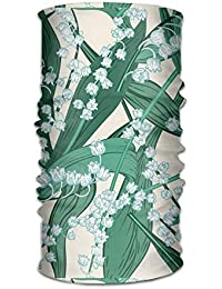 Vidmkeo Lily of The Valley(6372) Outdoor Wide Headband Elastic Seamless Scarf UV Resistence