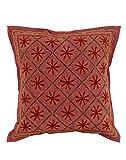 Decorative Maroon 16x16 Unique Cushion C...