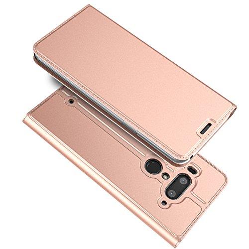 HTC U12 Plus Custodia, FindaGift Lusso Cuoio Slim Design Wallet Case Chiusura Magnetica Flip Cover [Antiurto][Protezione completa del corpo] Stand...