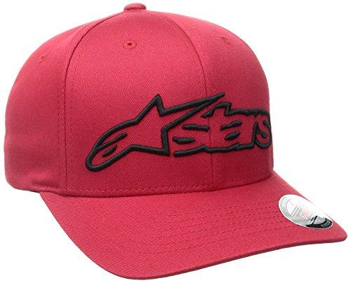 Alpinestars Herren Hat Blaze Flexfit Logo Curved Bill Flex Back, Red/Black, LXL, 1039-81005 Logo Flex Hat