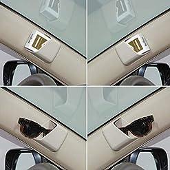 Flyes 2PCS universale occhiali supporti per auto visiera Phone penna organizer Storage Bag box, Grey, 7 * 8.5 * 3.5cm