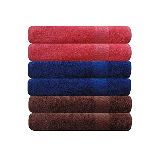 Akin Multicolor Cotton Hand Towels Set of 6