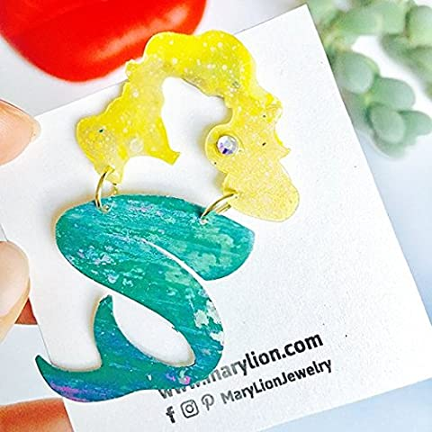 Blond candy mermaid pin - Mermaid brooch - Meerjungfrau Brosche