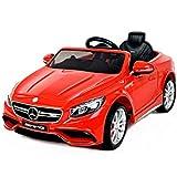 Mercedes-Benz S63 AMG, Rojo, producto BAJO LICENCIA, con mando a distancia 2.4Ghz, ruedas EVA suaves