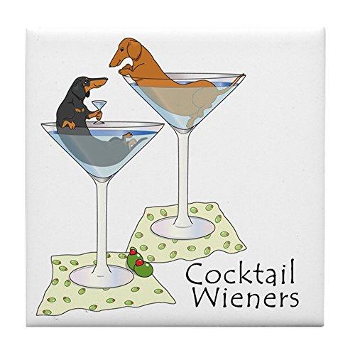 CafePress - Cocktail Wieners (Duo) - pour carrelage Dessous de Verre, dessous de boisson, petite Dessous de Plat