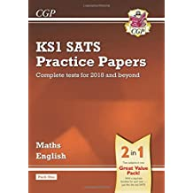 New KS1 Maths and English SATS Practice Papers Pack (for the tests in 2018 and beyond) - Pack 1 (CGP KS1 SATs Practice Papers)