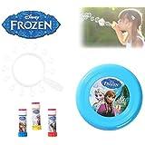 Set infantil juguetes (frisbee + multi trompeta de pompas) con varios motivos - Frozen