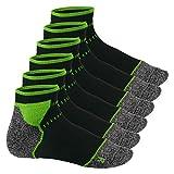 Footstar Running Socks - 6 Paar Funktionssocken - schwarz-grün 43-46