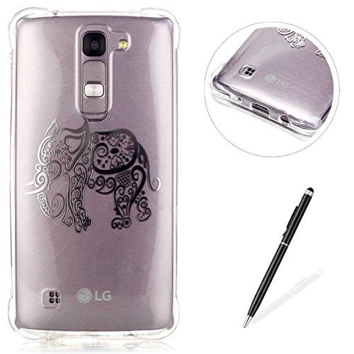 LG K8 Coque,LG K8 Gel Motif métallique TPU Case Feeltech Apple iPhone SE Case Silicone Clair Ultra Mince Premium Bumper iPhone 5S Housse Légère Étui Protecteur Transparente Souple Conception Frotter P Éléphant
