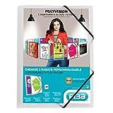 ELBA 100201153 Kunststoff-Eckspannmappe polyvision 12er Pack DIN A4 mit 3 Klappen farblos Sammelmappe Dokumentenmappe ideal für Büro Schule und die mobile Organisation