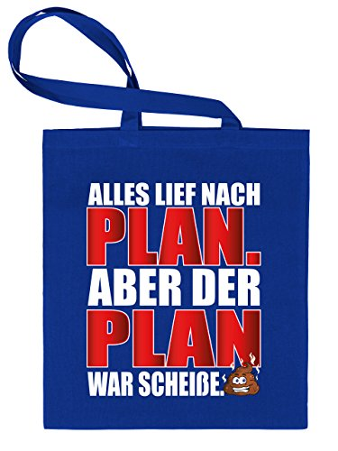Golebros Todo LIEF Después de Plan–Pero el Plan War Mierda–Bolsa de Tela Estampado por una Cara con Asas largas, 100% Algodón, Azul, Unisex