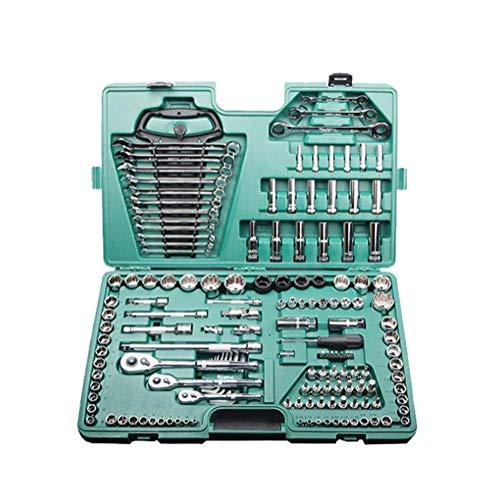 CVDEKH Steckschlüsselsätze Werkzeugset Zubehör Für Elektrowerkzeuge Ratschenschlüssel-Schraubendreher-Satz Für Kfz-Reparatursatz 150-Tlg