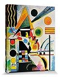1art1 81167 Wassily Kandinsky - Balancement, 1925 Poster Leinwandbild Auf Keilrahmen 50 x 40 cm