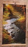 Infrarotheizung 450W Bildheizung Heizbild Infrarot Wandheizung Bild Heizer Infra (Forest stream)
