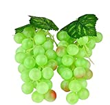 (Grün) Deko Kunststoff Weintrauben Wein Trauben Kunstobst Plastikobst künstliches Obst Gemüse Dekoration 2pc