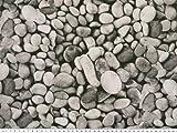 Zanderino ab 1m: Schöner Dekostoff, Steine, grau, 140cm breit