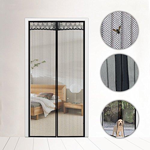 fuhaoo Keep Insekten fern Mosquito Tür Bildschirm, magnetischer Tür Vorhänge Bildschirm Tür Klettverschluss Vorhänge, 90* 210cm (W * H),