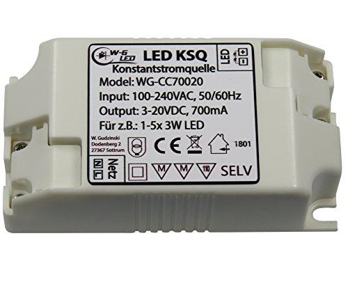 LED-Konstantstromquelle-Treiber-700mA-(3-20V)-KSQ_für z.B. 1-5 x 3W LED