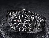 COOKDATE Herren Digital Quarz Uhr mit Plastic Armband Big Face Military Digitaluhren Outdoor Wasserdicht Sportuhr mit Wecker/Timer/LED Hintergrundbeleuchtung Schwarz