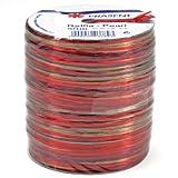 Präsent 50-m-Spule RAFFIA-PEARL-Multicolour - Dekobastband, bordeaux/bunt