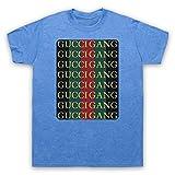Inspired Apparel Inspiriert durch Lil Pump Gucci Gang Inoffiziell Herren T-Shirt, Jahrgang Blau, Large