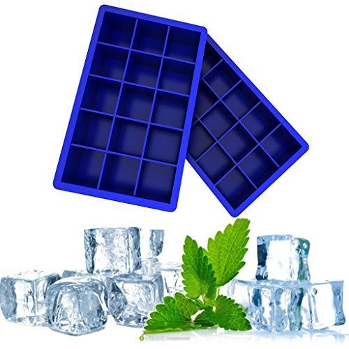m, 2 Stück Silikon Eiswuerfel Form Eiswuerfelbehaelter Ice Cube Tray Eiswürfelformen Eiswürfel Form Fach Eiswürfel Box Eiswürfelschale ()