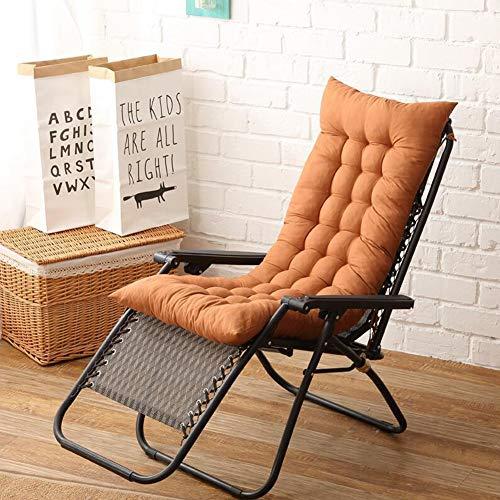 Yuoki99 cuscini per sdraio da giardino, cuscino prendisole cuscino per esterno da giardino cuscino per sedie a sdraio cuscino imbottito per sedia reclinabile con cinghie (light coffee(2pcs))