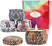 Tobeape® Citronella Candles, Natural Scented Soy Wax Candle, Portable Travel Tin Candle for Stress Relief- Ind
