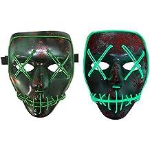 halloween traje máscara luminosa cráneo máscara completa máscara de horror esqueleto cosplay mascarada asustadizo el alambre