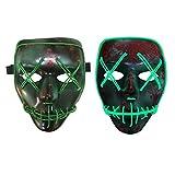 halloween Kostüm Maske leuchtenden Schädel voller Gesichtsmaske Horror Skelett cosplay Masquerade scary el Draht führte Licht blinkende Maske Glühen in dunkel für Karneval Festival Party