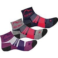 More Mile 3 Pack Endurance Kids Running Socks Boys Girls Cushioned Sports Sock