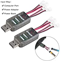 2pcs CX405 1S cargador del USB de la batería del LiPo 4.2V 4.35V LiPo LiHV JST-PH 2.0 conectadores mCPX Tiny Whoop