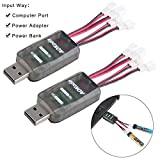 2pcs CX405 1S LiPo Batterie USB-Aufladeeinheit 4.2V 4.35V LiPo LiHV JST-PH 2.0 mCPX Verbindungsstücke Tiny Whoop