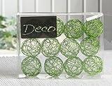 Deko-Drahtbälle 30 mm Ø, 12er-Packung, apfelgrün