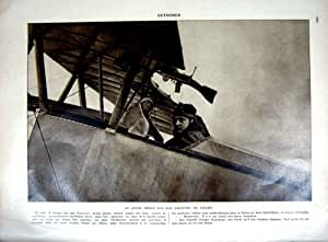 Guerre Arial 1927 de Brocard d'Aviation de Pilote de Ww1 Guynemer