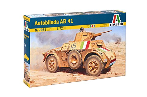 Italeri 7051 - autoblinda ab41 model kit  scala 1:72
