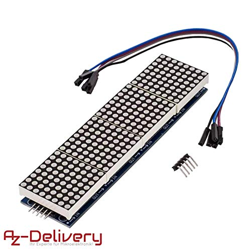 AZDelivery ⭐⭐⭐⭐⭐ MAX7219 8x32 4 in 1 Dot Matrix LED Anzeigemodul für Arduino mit gratis eBook! Led-matrix-display