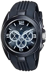 Fastrack Chronograph Black Dial Men's Watch - 38001PP03