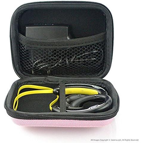 Deportes Bluetooth inalámbrico auriculares Funda de transporte, Fit Jabra Sport Plus, pulse, paso, Rox, Sony mdras200, mdr-j10, mdr-as200/sudor inalámbrico auriculares de entrenamiento Case