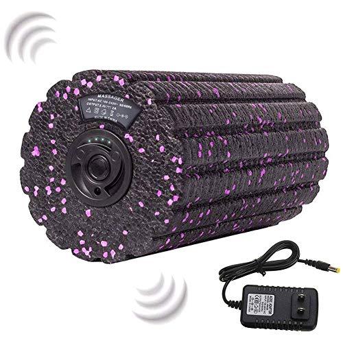 GZDD Rodillo Espuma eléctrico Vibrador 4 velocidades Alta Intensidad para la recuperación Entrenamiento de flexibilidad Tejido Profundo Punto Masaje Deportivo Masajeador eléctrico de Espalda