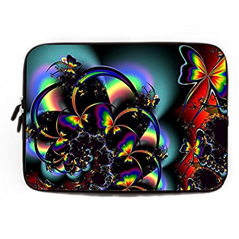 Butterfly Laptop Sleeve Macbook Air 13 inch Ultrabook Computer Case for Laptop 13 13.3 13.8 Inch Waterproof Neoprene Laptop Cases HP Samsung Computer Case Great Gift Ideas