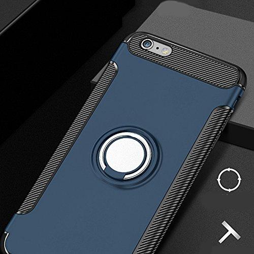 Merssavo Housse Coque Etui Protection Hybride TPU/PC avec poignée support bague pour Apple iPhone 7 Rose or Bleu