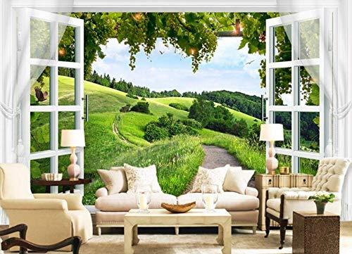 Fototapete wallpaper 3D Non-woven wallpaper 3d wallpaper bögen kreative grünes blatt tv hintergrund wand papel de parede tapety, 300cmx210cm Woven Bogen