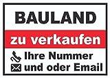 HB_Druck Bauland zu Verkaufen Schild A3