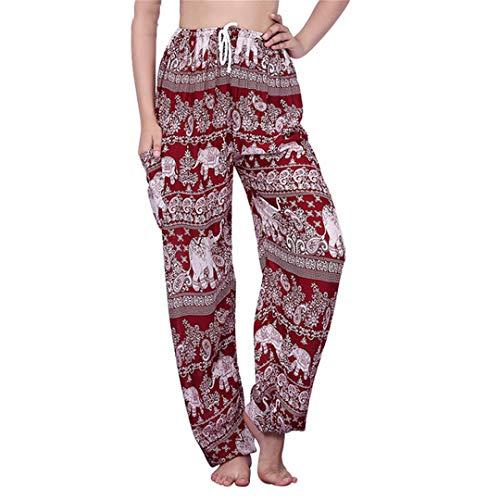 Cicisiso Herbst Hosen Frauen Plus Größe Elefant Hose Strand Boho Hosen Hohe Taille Bohemian Printed Hosen