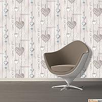 Fine Decor Love Your Home Wallpaper - Blue FD41719 by Fine Decor