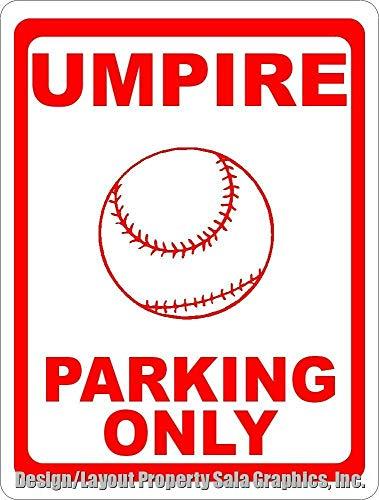 YelenaSign Umpire Parking Only Schild Geschenk Dekoration für Baseball Ump & Schiedsrichter Metallschild 20,3 x 30,5 cm