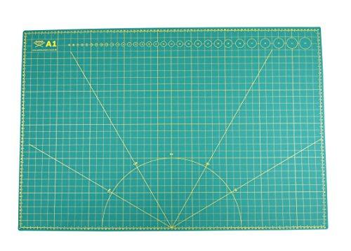 Paintersisters Schneidematte A1 = 60x90cm selbstheilend, Beidseitig Bedruckt: cm & inch