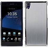 kwmobile Funda para Sony Xperia Z2 - Cover trasero para móvil de aluminio - Case duro plata